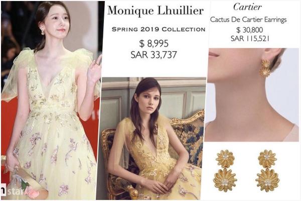"""Bóc giá bộ đầm vàng của Yoona tại thảm đỏ LHP Hàn Quốc: Giá """"sương sương"""" cũng ngót nghét 1 tỷ đồng"""