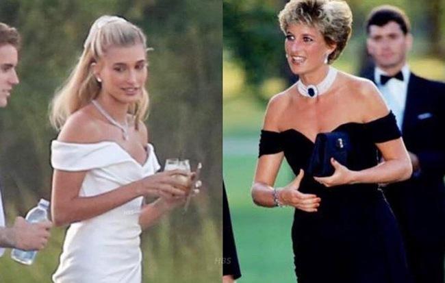 """Váy cưới tuyệt đẹp lại là """"chiếc váy trả thù"""" của công nương Diana, vì gì mà Hailey lại diện trong ngày trọng đại?"""