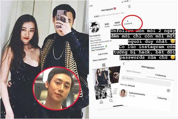 Góc làm màu: Rocker Nguyễn học Sơn Tùng, xóa hết bạn bè chỉ follow duy nhất bạn gái hot girl