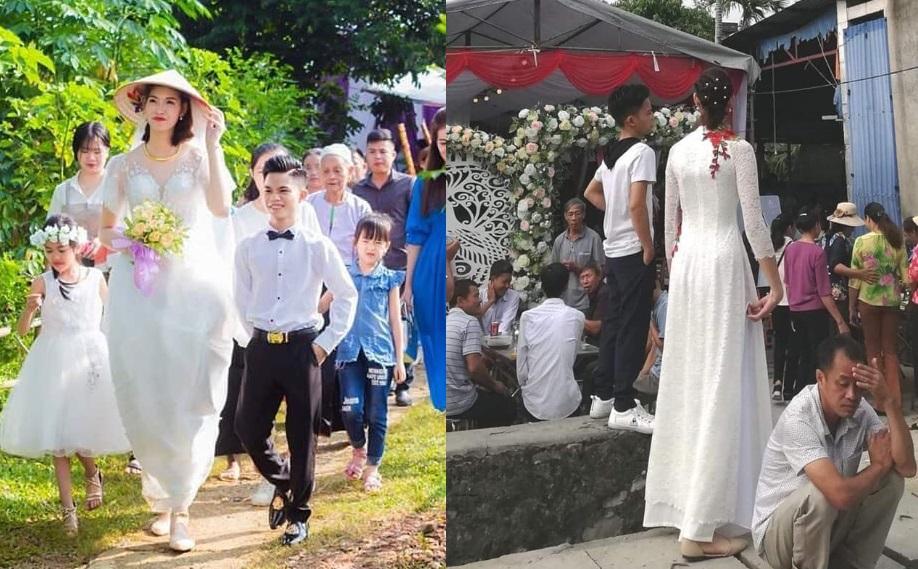 Tình yêu không khoảng cách về cả địa lý lẫn chiều cao: Chú rể Hải Phòng cao 1,4m hạnh phúc bên cô dâu cao 1,94m