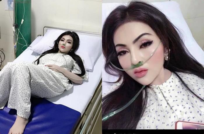 """Đang nằm viện thì bạn trai đến thăm, cô gái bật dậy makeup """"sương sương"""", ai ngờ hóa """"mẹ Bạch Tuyết"""" khiến cả phòng la hét"""