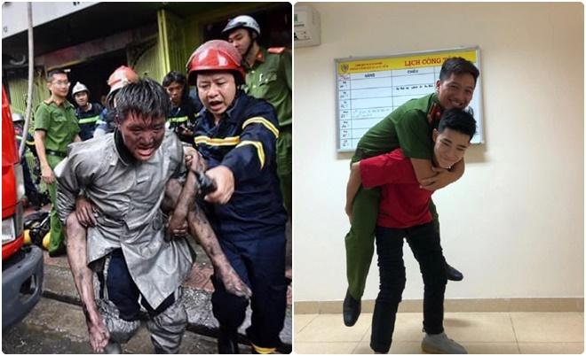 Chàng trai 18 tuổi gặp lại chiến sĩ PCCC cứu mình khỏi đám cháy ở Núi Trúc tri ân đầy xúc động