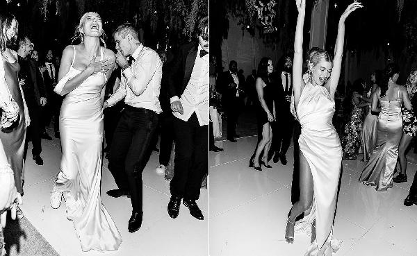 Thừa tiền mua giày hiệu, nhưng bà xã Justin lại chỉ thích sneakers, còn diện để khiêu vũ trong đám cưới đây này