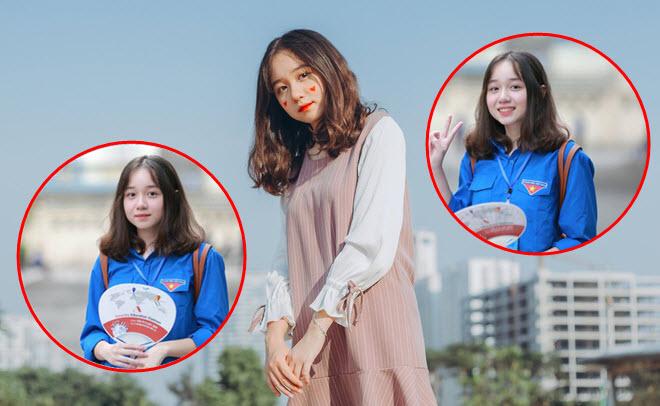 Nữ sinh xinh đẹp đi tiếp sức mùa thi từ năm lớp 10, ngại ngùng vì có chiều cao vượt trội