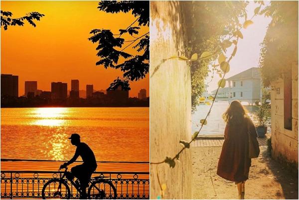 Ta gặp nhau 1 chiều thu tháng 10, khi hoàng hôn ngược nắng đẹp như thơ ở hồ Tây