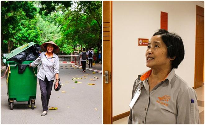 Sinh viên NEU gây xúc động khi ghi lại hình ảnh những người lao công thầm lặng làm sạch đẹp ngôi trường