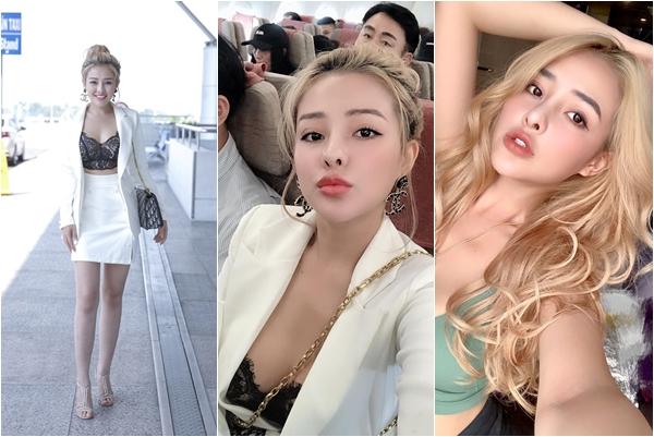 """Ngân 98 lộ thân hình """"ngắn một mẩu"""" hài hước tại sân bay trước khi sang Hàn Quốc thi Hoa hậu"""