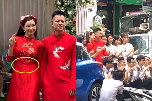 Sau bà hàng xóm, bác bán trà đá đưa tin đám cưới Lưu Đê Ly, vòng bụng to bất thường