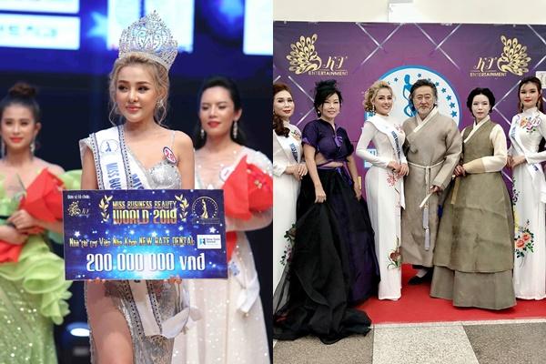 Ngân 98 thắng cuộc thi Hoa hậu doanh nhân, dàn đối thủ cạnh tranh toàn các chị U40