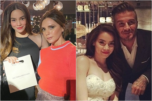 """Được so sánh nhan sắc với vợ Beckham, Hồ Ngọc Hà đáp lại được khen """"duyên dáng"""""""