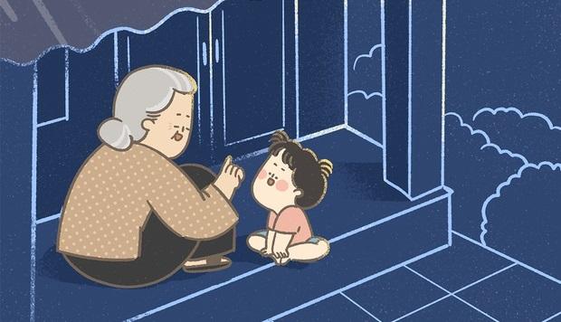 Bộ tranh xúc động: Tuổi thơ tươi đẹp, sung sướng biết bao khi có bà ở bên cạnh
