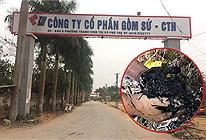 Chủ tịch Công ty CP Gốm sứ Thanh Hà xác nhận dầu thải bị đổ trộm vào nguồn nước Sông Đà là của công ty mình