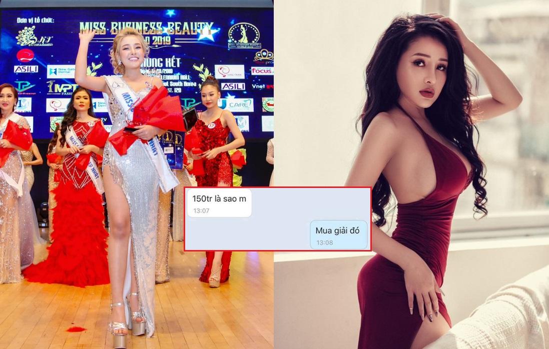 """Bị tố mua giải Á hậu 150 triệu ở cuộc thi Hoa hậu """"ao làng"""", Ngân 98 đáp trả: """"Em lấy tiền đâu mà mua giải?"""""""