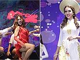 Nữ sinh Cuba được bình chọn là thí sinh mặc áo dài Việt Nam đẹp nhất trong đêm chung kết cuộc thi hoa khôi ĐH Hà Nội