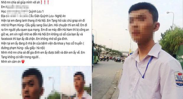 """Vụ nam sinh đi xe máy từ Nghệ An ra Hà Nội tìm """"bạn gái"""": Tặng hoa 20/10 không ai nhận nên buồn bã bỏ đi"""