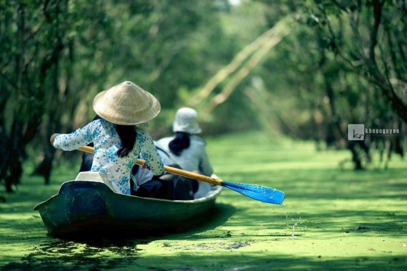 """004 20191027231913 - Thu này, """"đẩy thuyền"""" đu đưa về rừng tràm Trà Sư mùa nước nổi đẹp quên lối về"""