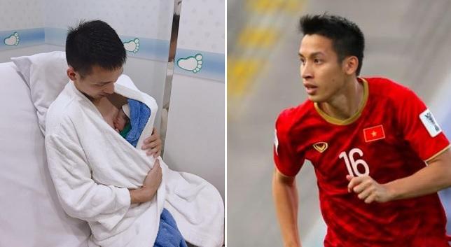 """Tiền vệ Đỗ Hùng Dũng hạnh phúc đón con trai đầu lòng: """"Cháu sẽ làm đội trưởng và gắng sút penalty tốt hơn bố"""""""