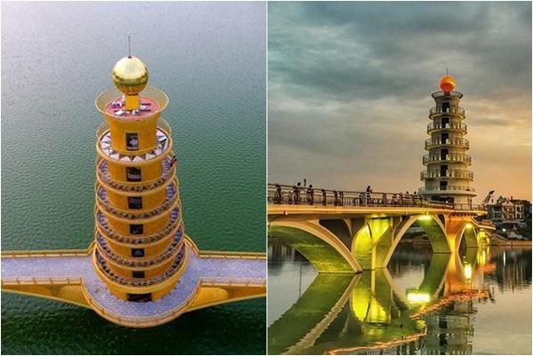 """Choáng ngợp trước """"Cầu Tình Yêu"""" 80 tỷ kiến trúc tháp 7 tầng lần đầu tiên xuất hiện ở Việt Nam"""