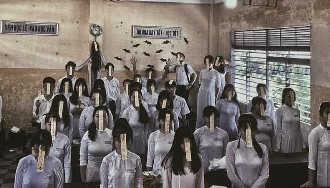 """""""Lớp học cương thi"""" - Bộ ảnh Halloween của teen An Giang khiến dân mạng đua nhau share dọa bạn bè"""