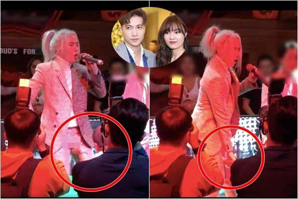 """Phản ứng """"giãy đành đạch"""" của S.T Sơn Thạch khi bị khán giả chạm """"chỗ hiểm"""" trên sân khấu"""