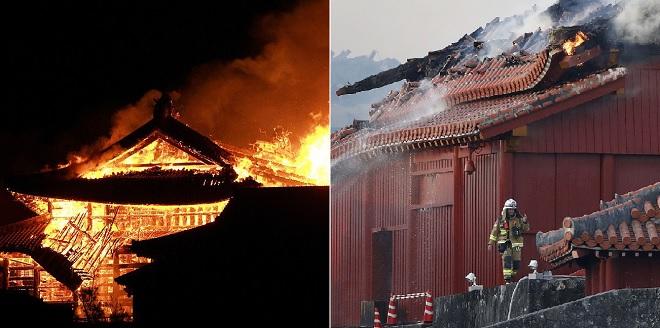 Xót xa di sản thế giới 600 năm tuổi của Nhật Bản bị tàn phá trong đám cháy lớn