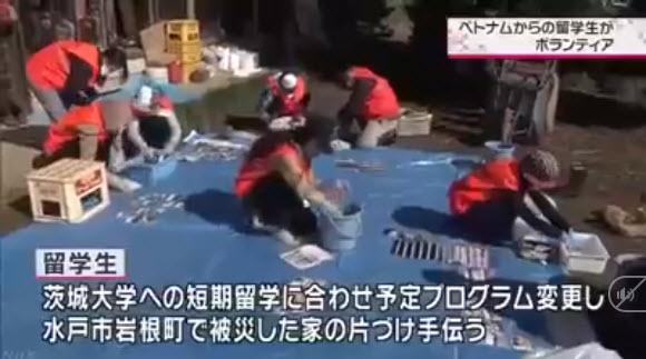Truyền thông Nhật Bản ca ngợi hành động đẹp của du học sinh Việt Nam sau cơn bão số 19