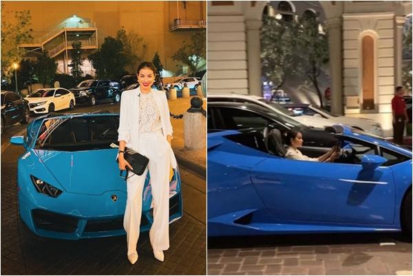 Không biết làm gì ở trời Tây nhưng Phạm Hương lại mua xe mới tiền tỉ rồi này
