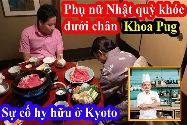 """Khoa Pug bị siêu đầu bếp gọi là """"vô văn hóa"""" sau clip dùng từ thiếu tôn trọng phụ nữ Nhật để câu view"""