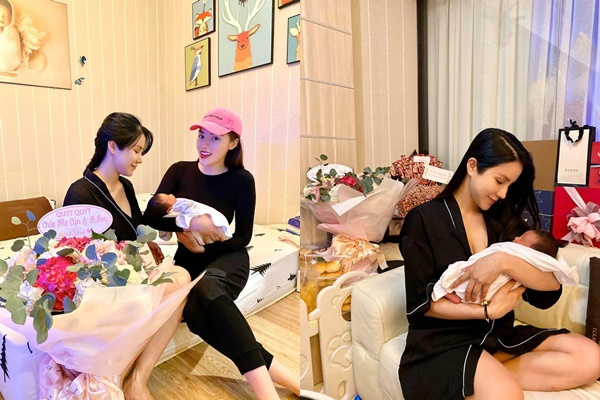 Kỳ Duyên vô tình tiết lộ điểm đặc biệt trên mặt con trai mới chào đời của Diệp Lâm Anh