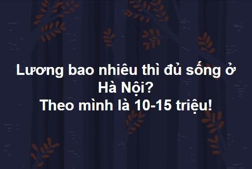 Lương bao nhiêu thì đủ sống ở Hà Nội? - Câu hỏi gây chia rẽ dân công sở
