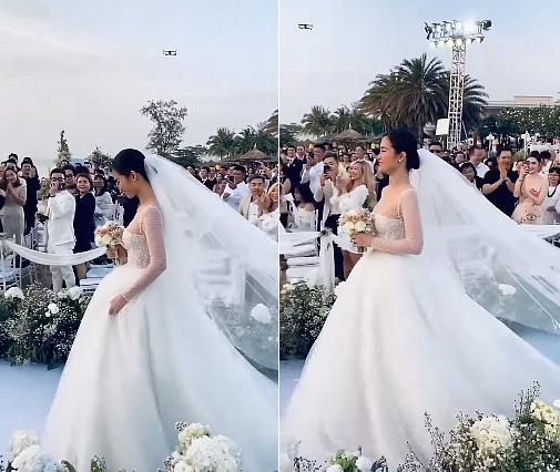 Ít ai biết Đông Nhi đã gặp sự cố trang phục trong lễ cưới giống hệt Linh Rin trước đó