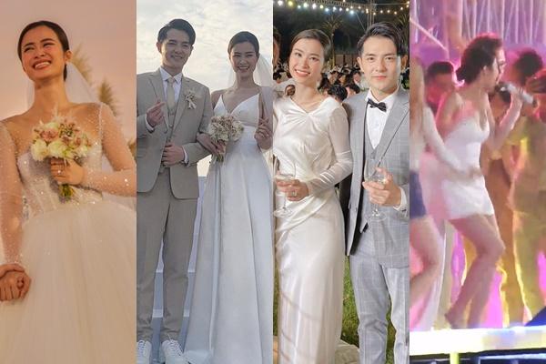 Ngắm trọn 4 bộ váy cưới trong ngày trọng đại của Đông Nhi nhưng bất ngờ nhất là chiếc cuối cùng