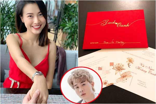 Lộ thiệp cưới tháng 12 của Á hậu Hoàng Oanh và bạn trai Jack?