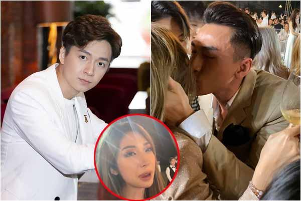 Phản ứng của Ngô Kiến Huy khi thấy Isaac hôn tình cũ Khổng Tú Quỳnh trước bàn dân thiên hạ