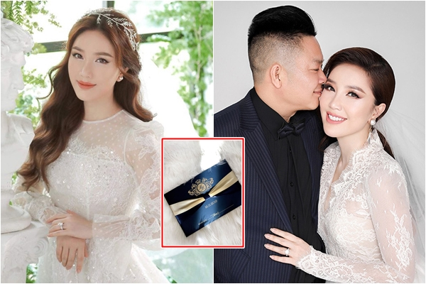 Bảo Thy chính thức chia sẻ ảnh cưới rõ mặt chú rể, lộng lẫy không kém Đông Nhi