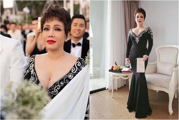 """Việt Hương lên tiếng đính chính về chiếc váy mặc trong đám cưới Đông Nhi - Ông Cao Thắng: """"Mong mọi người thông cảm"""""""