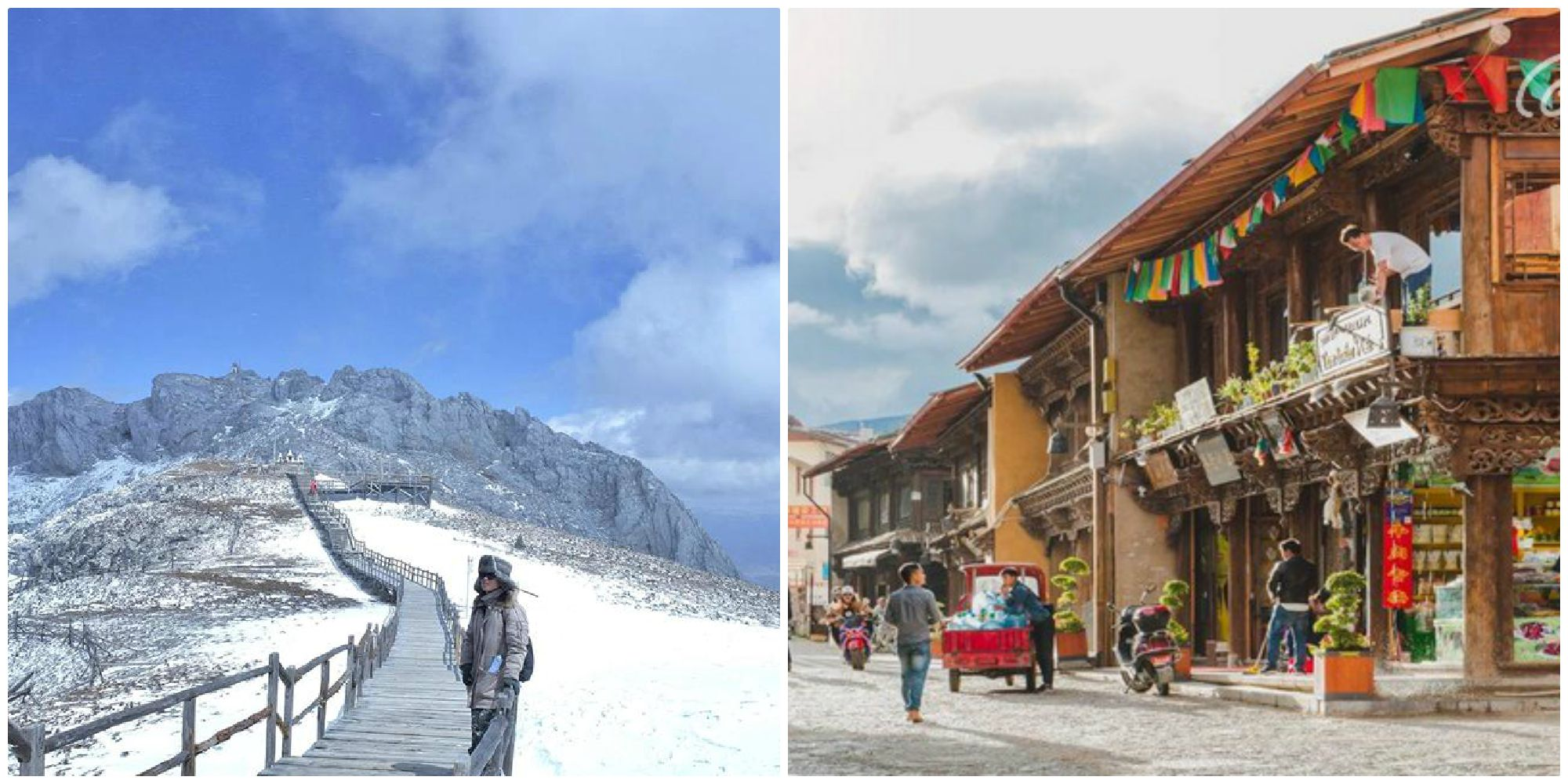 Đón tuyết sớm ở Thạch Ca Tuyết Sơn - ngọn núi tuyết nổi tiếng nhất Shangri-La