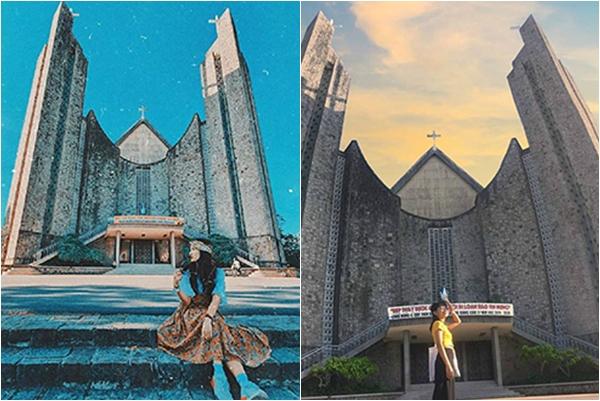 """Định vị tọa độ Nhà thờ Huế có kiến trúc đẹp như châu Âu, check-in """"sương sương"""" mà như ở bển"""