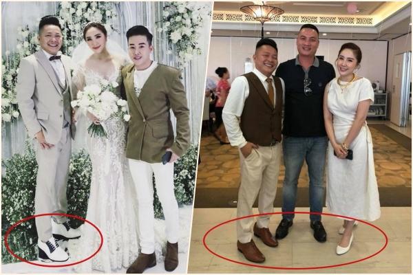 Tâm lý như Bảo Thy, dặn cả khách mời đi giày bệt còn mình đi giày thấp để tương xứng với chồng