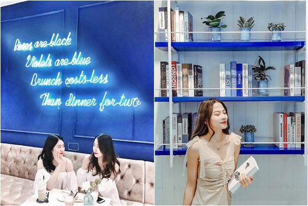 """Rầm rộ quán cafe đượm màu """"xanh hòa bình"""" ngỡ Santorini mini ngay lòng Hà Nội"""
