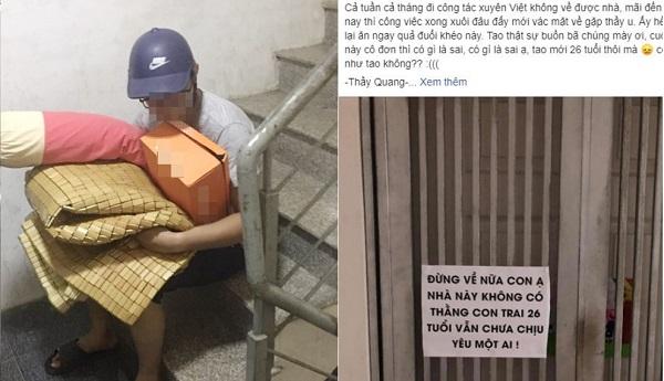 """26 tuổi vẫn không yêu ai, thanh niên bị bố mẹ đuổi ra khỏi nhà: """"Đừng về nữa con ạ"""""""