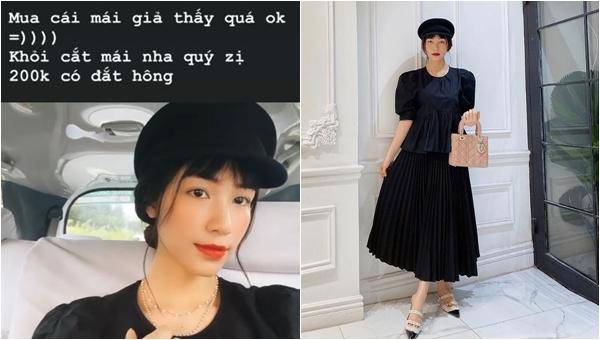 Đăng ảnh thông báo tái xuất, Hòa Minzy khéo léo mặc áo rộng che bụng, phải diện mái giả vì rụng tóc sau sinh?