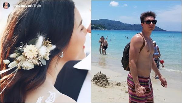 """Không cần chờ đến đám cưới, chân dung chú rể Tây của MC Hoàng Oanh đã được lộ diện, chiếc mũi đúng là """"cực phẩm"""""""