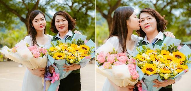 Con gái bất ngờ xuất hiện trong ngày 20/11 cuối cùng của mẹ khiến bao người xúc động và xuýt xoa khen ngợi nhan sắc