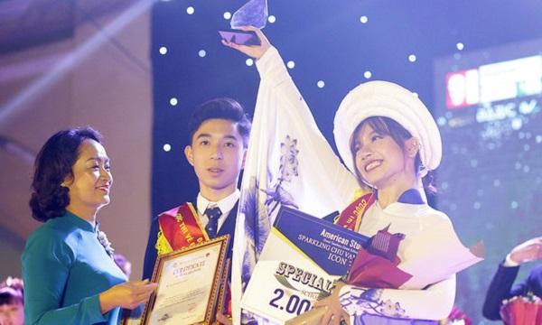 Cặp đôi học sinh lớp 10 xuất sắc đăng quang trong đêm Sparkling của trường Chu Văn An