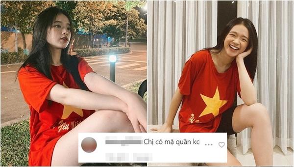 """Diên áo thể thao cổ vũ ĐT Việt Nam, Linh Ka bị """"hỏi khó"""""""