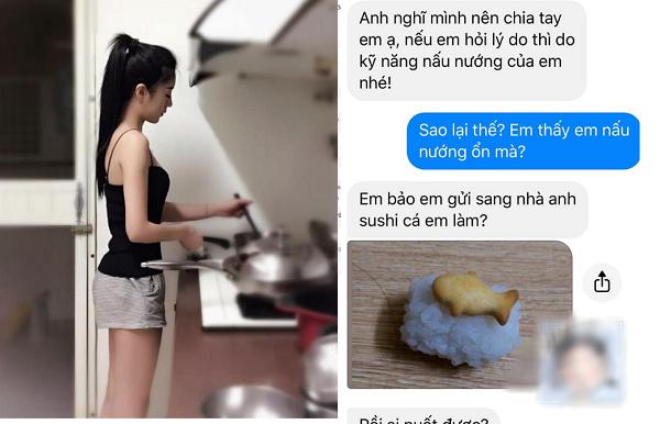 Cất công làm món sushi cá chiêu đãi bạn trai, cô gái ngỡ ngàng nhận lại lời chia tay
