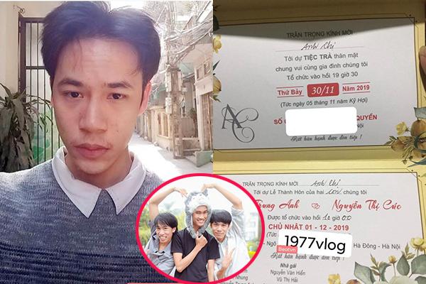 """Bất ngờ chưa, """"Ông giáo"""" 1977 Vlog - Nguyễn Trung Anh chuẩn bị lên xe hoa, vợ sắp cưới còn cực xinh đẹp"""