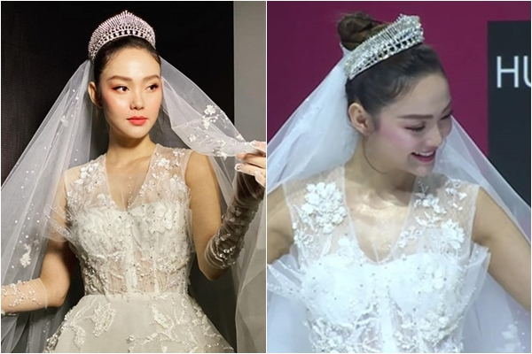 Minh Hằng bất ngờ khoe ảnh mặc váy cô dâu, ngày kết hôn cũng không còn xa