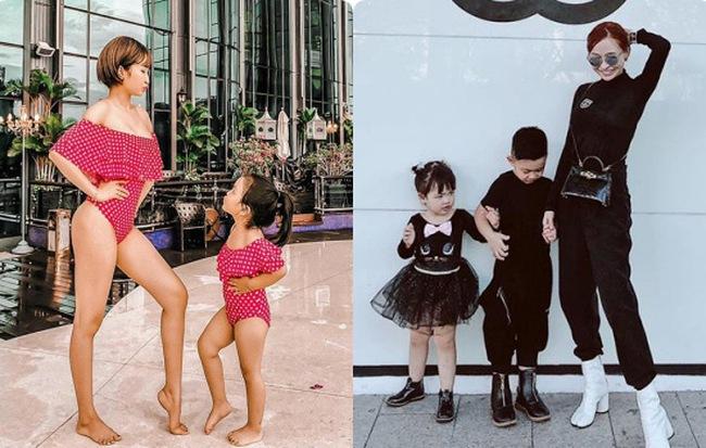 Trình sống ảo ở mức thượng thừa, vợ hai Minh Nhựa chọn đồ cho con cũng phải đồng điệu để lên hình cho đẹp